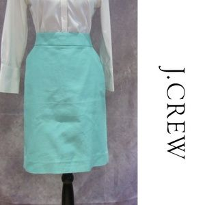 NEW J. Crew The Pencil Skirt Seafoam Green Size 14